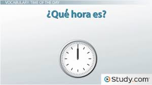 spanish vocabulary for time of day morning afternoon u0026 evening