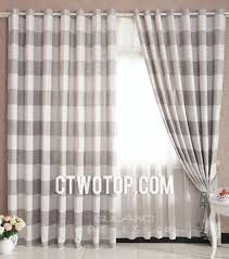 Grey Linen Curtains Grey And White Striped Eco Friendly Cotton And Linen Bedroom Curtains