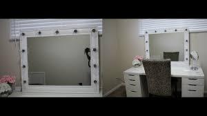 How To Make A Makeup Vanity Mirror Diy Vanity Mirror Under 100 Youtube