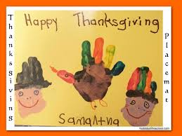 thanksgiving handprint placemats nuttin but preschool