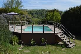 rivestimento in legno per piscine fuori terra piscina sopraelevata unicapool fuori terra cta piscine