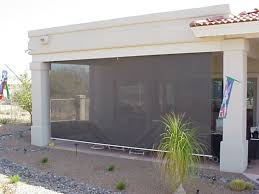 Solar Shades For Patio Doors by Exterior Rolling Screens Retractable Deck U0026 Patio Awnings Sunair