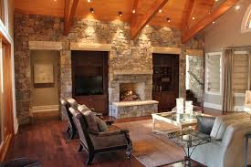 country homes interior the wood and stone modern home