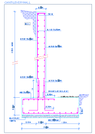 Retaining Wall Flexural Reinforcement From Stem Into Footing - Reinforced concrete wall design example