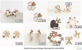 earrings malaysia korean style earrings from only rm10 jualbeli shop online