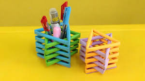 how to make a paper pencil holder easy origami pen holders for