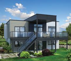 image of new modern house plans for sloped lots open floor plans