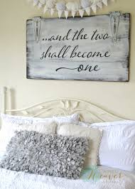two shall become one sign wood signs woods and bedrooms and the two shall become one wood sign by aimee weaver designs