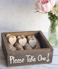 wedding favor idea chalkboard hearts with a cute saying on them