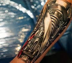 biomechanical tattoo by khan tattoo photo no 15204