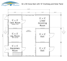 large horse barn floor plans