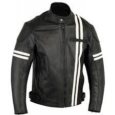 white motorcycle jacket buy men s black motorcycle jacket with white stripes