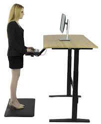 kangaroo elite sit to stand adjustable height desk for 2 monitors