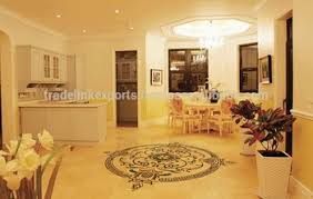 white marble shape inlay flooring exclusive inlaid