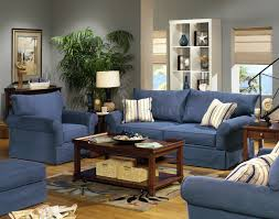 Set Furniture Living Room Blue Living Room Furniture Sets Blue Denim Fabric Modern Sofa