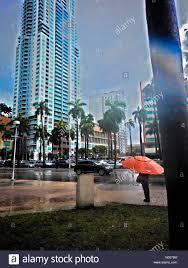 biscayne blvd miami florida usa 21st may 2016 wet weather