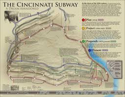 Map Of Cincinnati Infographic The Abandonment Of Cincinnati U0027s 1914 Subway And Rapid