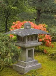 contemporary lantern and azalea japanese garden portland oregon
