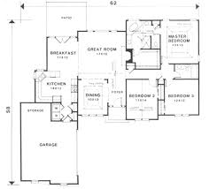 european house plans one story european style house plan 3 beds 2 baths 1670 sq ft plan 129