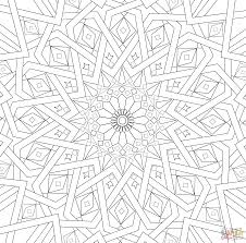 traditional islamic mosaic coloring page supercoloring com