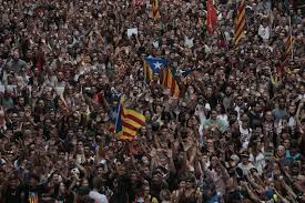 catalans rally in fury over independence poll violence the new