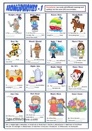 homophones worksheet ell esl pinterest worksheets printable