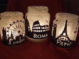 porta candele barattoli di vetro porta candele in stile shabby chic per la cas