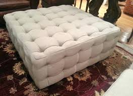 Large Tufted Leather Ottoman Fabric Coffee Table Ottoman Cfee Cfee Cfee Coffee Table Turned Diy