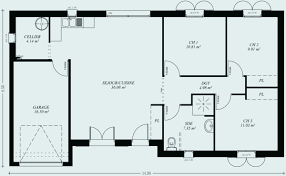 plan plain pied 2 chambres plan maison 80m2 2 chambres awesome plan maison 80 m2 plain pied