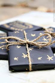 matte black wrapping paper blue matte gold pen and twine it s a wrap creative ideas