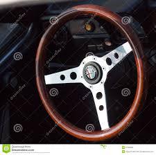 vintage alfa romeo logo wooden steering wheel editorial stock photo image 31589288