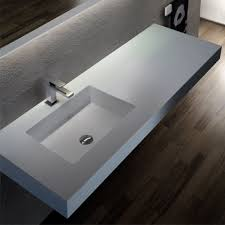 Blubleu by Wall Mounted Washbasin Rectangular Corian Contemporary