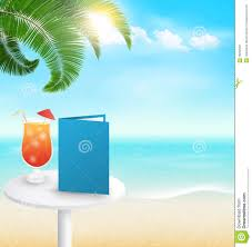 holiday cocktails background beach with palm cocktail menu and clouds summer vacation backgr