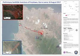 Map Of Sierra Leone Flood In Sierra Leone Charter Activations International