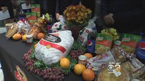 supermarket chain partners deliver thanksgiving dinner baskets to
