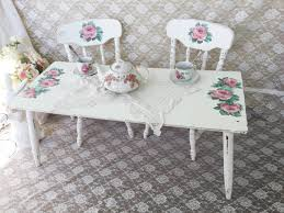 little girls table and chair set shabby cottage chic child s table and chair set by fannypippin