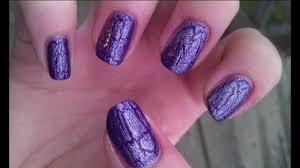 china glaze crackle nail polish purple manicure latticed lilac