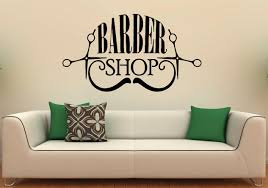 barber shop wall decal vinyl stickers hairdressing salon zoom