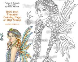 fairy tangles coloring sheets digi stamps u0026 by fairytangleart