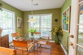dining room with pendant light u0026 hardwood floors in conway ar