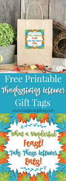 free printable thanksgiving leftovers gift tags easy peasy pleasy