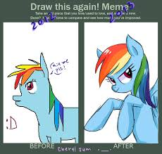 Best Mlp Memes - draw this again meme rainbow dash challenge by cheryl jum on