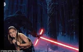 Lightsaber Meme - ariana grande s terrified face is turned into a series of