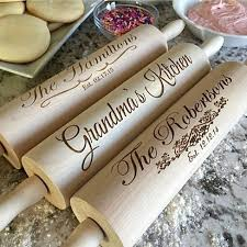 personalized kitchen items these personalized high quality rolling pins make for amazing