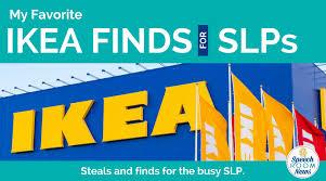 Ikeas Ikea Finds For The Slp Speech Room News