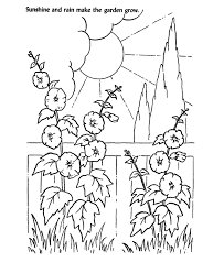 rain garden coloring kids drawing coloring pages marisa
