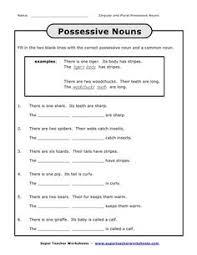 writing singular possessive nouns worksheets englishlinx com