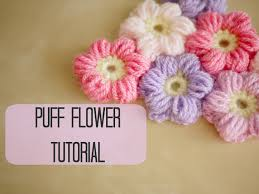 Crocheted Flowers - crochet how to crochet a puff flower bella coco youtube