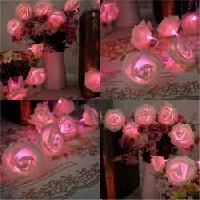 Rose Lights String by Decorative String Lights For Bedroom Diy Fairy In Jar Flower