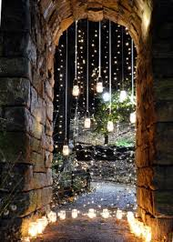 wedding arches with lights vertical strand jar lighting weddings style and decor